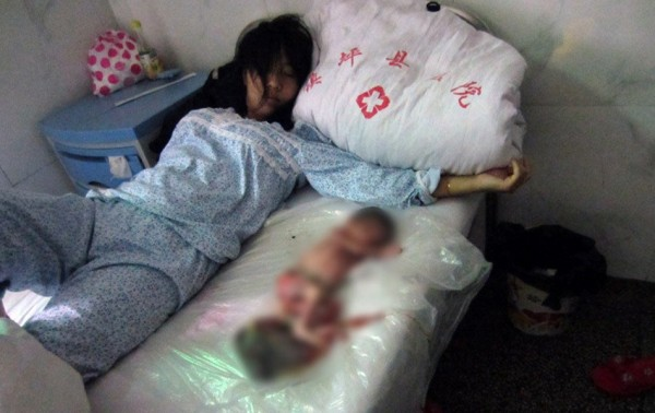 Strange news - photo of chinese woman forced abortion